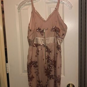 Charlotte Russe Dresses - Pink sequined dress